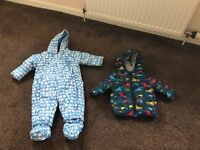 Baby boys 3-6 months waterproof jacket and snowsuit