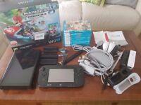 Nintendo Wii U 32gb and 9 games