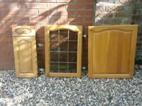 Kitchen cupboard doors - solid wood - light oak - used but good condition