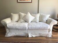 White textured sofa