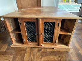 Solid Wood TV Cabinet/Unit