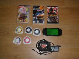 PSP SLIM & LITE WITH 8 GAMES