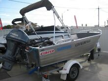 Stacer Tinny with new Yamaha 4 Stroke electric motor Kew East Boroondara Area Preview
