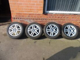 "16"" ORIGINAL FORD ALLOY WHEELS AND TYRES SET OF 4"