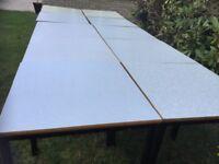 Ex school tables, desks. 98 in total. £2 each.
