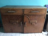 Art Deco Oak Chest of Drawers- Cupboard for sale £180 ono collection only from SW9