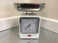 Wesco Retro Kitchen Scales (White) Ex-Display - RRP 59.95