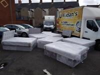 *BRAND NEW silver crushed velvet double bed with orthopaedic mattress, diamanté headboard £175 each!