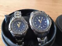 Matching ladies and gents watches - Claude Valentini