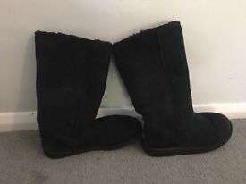 Black Ugg Boots. Tall size 5