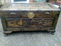 Carved Oriental Chest