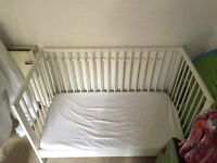 IKEA GULLIVER BABY COT/BED + mattress + impermeable cover + full bedding set!!!