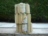 Wooden Garden Border Rolls x 3