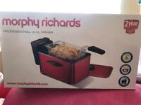 Morphy Richards red deep fryer brand new