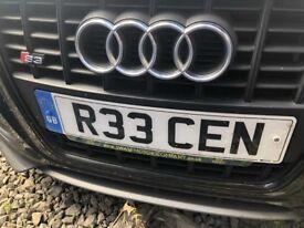R33 CEN Cherished number plate