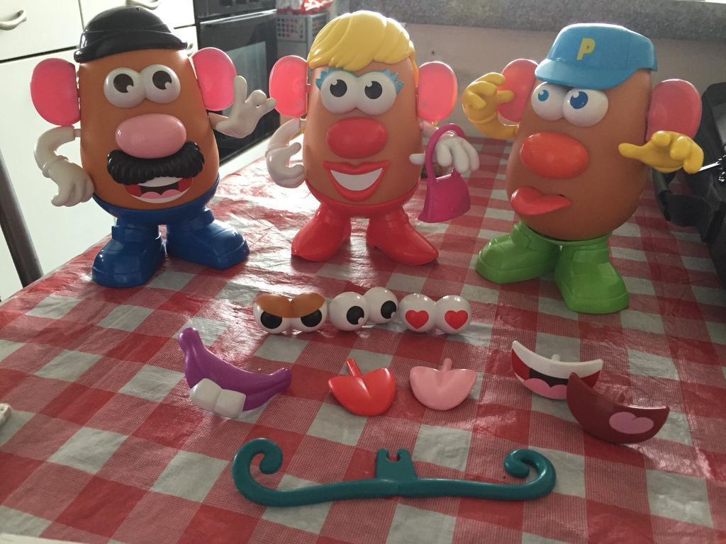 Mr, Mrs and Junior potato