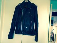 Men's leather bikers jacket size small