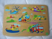 ELC Wooden Vehicle Peg Puzzle with sound