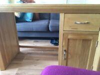 Oak desk / dressing table