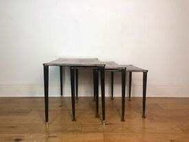 Mid Century Modern Set Of Teak Nest Of Tables on Dancette Legs FREE LOCAL DELIVERY
