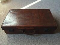 Beautiful vintage leather suitcase