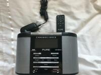 Pure CHRONOS DAB Alarm Clock Radio with iPod iPhone connection 30pin
