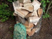 BARGAIN SEASONED DRY HARDWOOD LOGS,WITH LARGE NET OF KINDLE