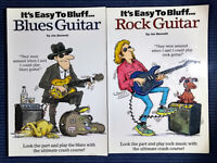 It's Easy To Bluff Blues Guitar + It's Easy to Bluff Rock Guitar + 3 MORE BOOKS