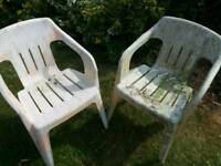 FREE Plastic garden chairs