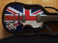 Hofner Jubilee Violin Bass Guitar HCT, Limited Edition Jubilee Union Jack, Paul Mc Cartney Beatles
