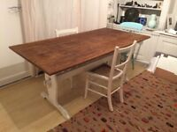 Handmade wooden dining room table: rustic, chic (£200)