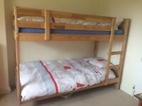 IKEA wooden bunk bed frame