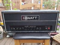 Hiwatt Bass 100 Tube Head Amplifier New Tubes amd Service