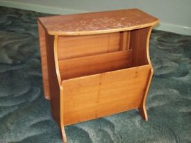Magazine Rack/Folding Coffee Table. 1970's Retro