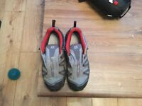 Berghaus backpack+ Salomon Size 9 walking shoes+ Vango sleeping bag