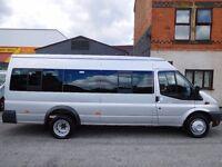 Super Rare!! Ford Transit 17 seat LWB Minibus 2013 moondust silver 1 owner from new 135BHP (41)