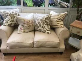 Great looking beige sofas very big