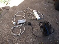 ELECTRICAL EXTENTION LEADS - SET OF 3.