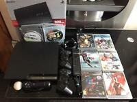 Sony PlayStation PS3 with bundle of games