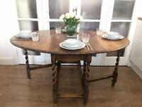ENGLISH TABLE OAK VINTAGE FREE DELIVERY LDN🇬🇧