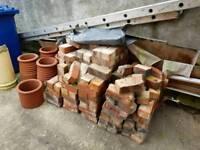 Bricks and Terrecotta Chimney Pots