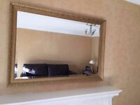 Wall Mount Gold Mirror