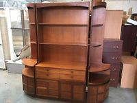 NICE WOODEN DISPLAY CABINET in 3 PARTS NICE CONDITION