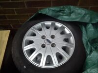 ★ (5) FORD FOCUS ALLOYS & TYRES 195/60/R15 GOOD CONDITION ★