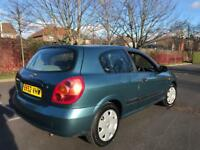 Nissan Almera N16 1.5s 3 door, 2002, 90k cheapo runabout + HPI clear