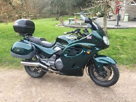 Triumph 1200 Trophy with panniers and top box