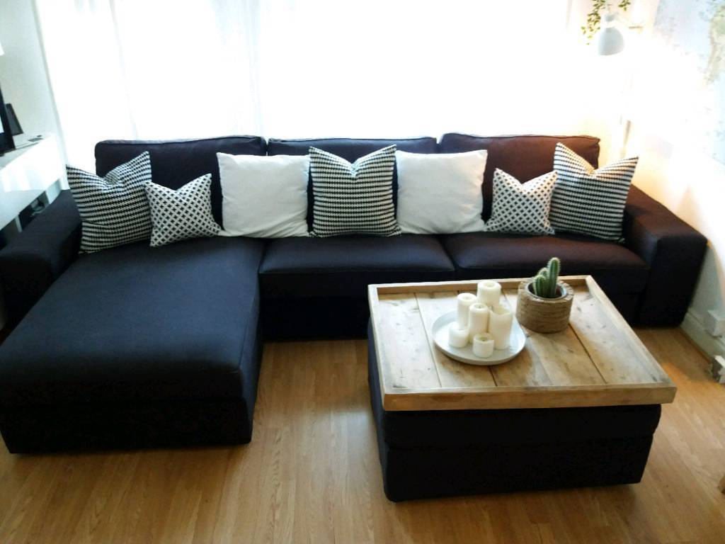 Miraculous Ikea 4 Seat Kivik Sofa With Chaise Lounge Footstool With Storage Coffee Table Sstc In Luton Bedfordshire Gumtree Inzonedesignstudio Interior Chair Design Inzonedesignstudiocom
