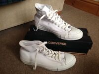 White Converse high tops-Size 8