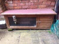 Large rabbit hutch with water bottle