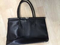 Ladies computer or large mock leather bag - strong handles and good quality